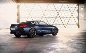Picture light, coupe, BMW, back, side, the room, 2017, 8-Series Concept