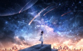 Picture space, the city, fiction, schoolgirl, OR