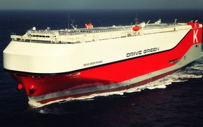Picture Sea, The ship, A cargo ship, RoRo, RORO, Vehicles Carrier, Ro-Ro, Drive Green Highway