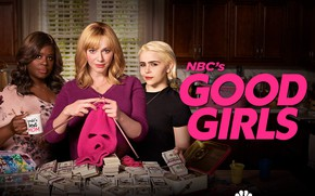 Picture look, money, mask, actors, the series, Movies, Good Girls, Good girls