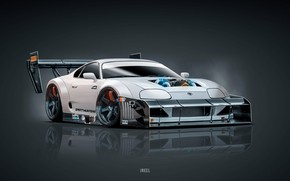 Picture Toyota, Supra, Toyota Supra, Concept Art, Science Fiction, Transport & Vehicles, by JREEL, JREEL, by …