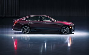 Picture Purple, Side view, American car, CADILLAC CT5