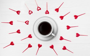 Picture Love, coffee, hearts, Heart