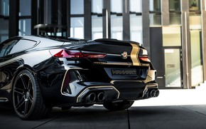 Picture black, tuning, coupe, BMW, the rear part, Manhart, 2020, BMW M8, 4.4 L., two-door, V8 …