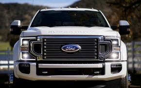 Picture Ford, front view, pickup, Super Duty, F-450, Limited, 2019, F-series