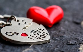 Picture love, heart, red, love, keychain, heart, romantic, I love You