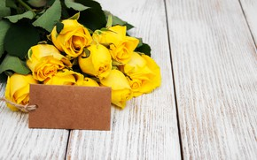 Picture roses, bouquet, yellow, yellow, flowers, romantic, roses