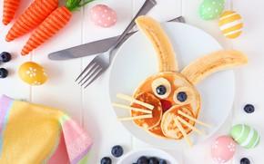Picture berries, Breakfast, banana, pancakes