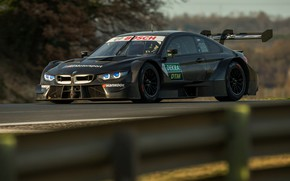Picture black, coupe, BMW, the fence, M4 DTM