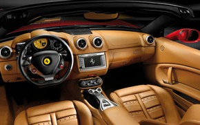 Picture leather, the wheel, Ferrari, salon, California, 2008–12