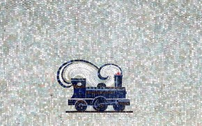 Picture mosaic, the engine, minimalism, texture