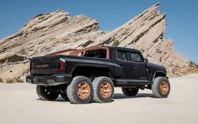 Picture black, pickup, triaxial, Rezvani, 2020, Hercules 6x6