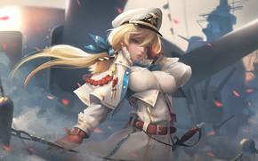 Picture karabl, anime, art, captain, Navy, Captain, Taejune Kim