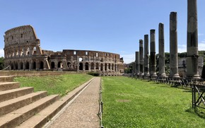 Picture Rome, Colosseum, Italy, columns, ruins