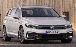 Picture car, machine, wall, lights, room, Volkswagen, white, white, front, universal, GTE, Volkswagen Passat, Volkswagen Passat …