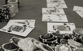 Picture card, chips, casino