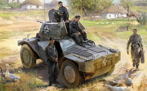 Picture Panhard 178, Pz.Spah.204(f), Armored reconnaissance vehicle P204(f), armored reconnaissance vehicle 204, reconnaissance armored car, model …