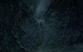 Picture fear, darkness, the devil, art, transformation, Satan, Tianhua Xu, hell