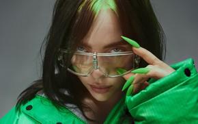 Picture glasses, nails, celebrity, Singer, Billie Eilish, Billy Iles