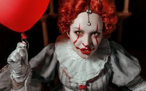 Picture girl, clown, based on the movie, Pennywise, Ann Pashko, Anna Pashko