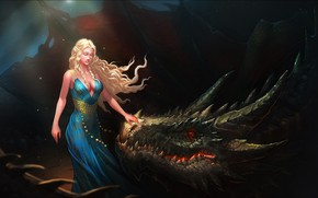 Picture Girl, Fantasy, Game of Thrones, Game of thrones, Daenerys Targaryen, Daenerys Targaryen, Character, Mother of …