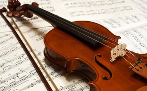 Picture Violin, Notes, Strings
