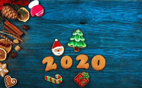 Picture cookies, New year, cakes, New Year, 2020