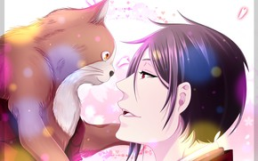 Picture cat, cat, sebastian, Kuroshitsuji, Sebastian Michaelis, Dark Butler, by namisiaa