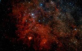 Picture Stars, Nebula, VLT Survey Telescope, H II Region, Sharpless 2-54, Constellation of Serpens Cauda