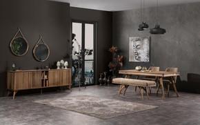 Picture design, style, room, interior, dining room, Yemek Odasi