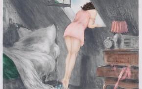 Wallpaper 1940, Attic, Louis Icart