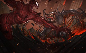 Picture Figure, Language, Battle, Teeth, Fight, Fangs, Art, Marvel, Marvel Comics, Illustration, MARVEL, Venom, Venom, Carnage, …
