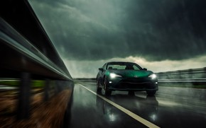 Picture rain, overcast, coupe, green, Toyota, GT86, 2019, 86 Limited Hakone Edition