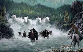 Picture Water, Elf, Horse, The Lord of the Rings, Arwen, The Nazgul, Lord of the Rings:the …