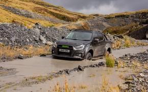 Picture water, dirt, pickup, ditch, Isuzu, D-Max, 2019, UK version, XTR