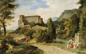 Picture picture, painting, canvas, Pierre-Henri de Valenciennes, Пьер-Анри де Валенсиен, Итальянские пейзажи, painting oil