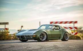 Picture Corvette, Green, 1970, Stingray, Wheels, Forgeline