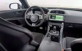 Picture Jaguar, Salon, The wheel, 2018, Jaguar XE SV Project 8, Jaguar XE