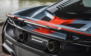 Picture McLaren, rear view, 2018, MSO, 675LT, Gulf Racing