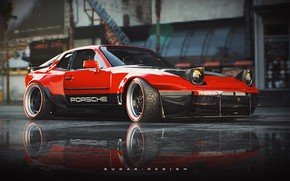 Picture Red, Auto, Porsche, Retro, Machine, Style, Car, Rendering, 944, Transport & Vehicles, by Sugar Chow, …