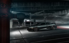 Picture Audi R8, side view, 2018, V10, Vossen