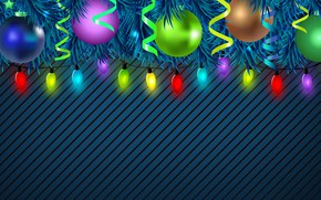 Picture Minimalism, Christmas, New year, Holiday, Christmas, Art, Mood, Tree, New Year, Background, Garland, Christmas decorations, …