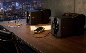Picture Sony, High End, Sony, 2020, near-field powered speaker system, desktop speakers, speaker system, Sony SA-Z1, …