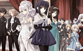Picture girls, characters, ball, Fate stay night, Fate / Stay Night
