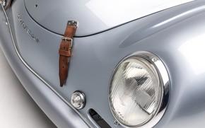 Picture Porsche, 1953, Lights, Classic, Strap, Chrome, Classic car, Porsche 356, Porsche 356 America Roadster