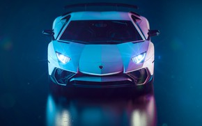 Picture Auto, Lamborghini, White, Machine, Supercar, Aventador, Lamborghini Aventador, Rendering, Sports car, by Giacomo Geroldi, Giacomo …