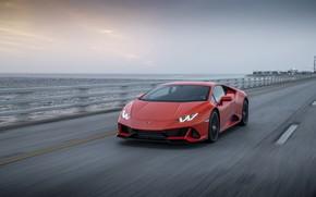Picture speed, Lamborghini, Evo, Huracan, 2019, Lamborghini Huracan Evo