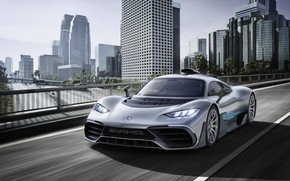 Picture machine, the city, building, Mercedes-Benz, hypercar, Mercedes-AMG, Project ONE