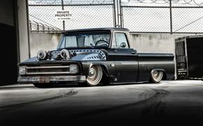 Picture Chevrolet, Truck, Custom, Low, C10