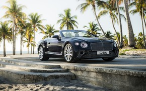 Picture black, Bentley, convertible, 2019, Continental GT V8 Convertible